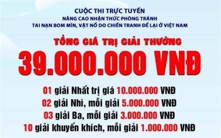 Trung tâm Hành động bom mìn quốc gia Việt Nam tổ chức thi trực tuyến nhận thức về bom mìn