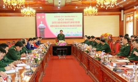 Quán triệt phương châm kế thừa, ổn định, đổi mới, sáng tạo, phát triển trong chỉ đạo chuẩn bị và tổ chức đại hội đảng các cấp ở Đảng bộ Quân khu 3