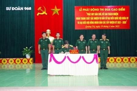 Toàn quân thực hiện tốt công tác bầu cử đại biểu Quốc hội khóa XV và đại biểu Hội đồng nhân dân các cấp nhiệm kỳ 2021 - 2026