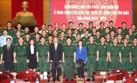 透彻领会胡志明思想 军队加强民运工作 履行好工作队职能