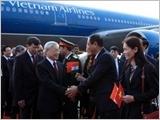 Tổng Bí thư Nguyễn Phú Trọng bắt đầu chuyến thăm Cộng hòa Ấn Ðộ