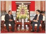 Chủ tịch nước, Thủ tướng tiếp; Chủ tịch Quốc hội đón và hội đàm với Chủ tịch Quốc hội Vương quốc Cam-pu-chia