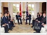 Thủ tướng Nguyễn Tấn Dũng hội kiến Toàn quyền Ô-xtrây-li-a Pi-tơ Co-xgrâu