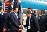 Thủ tướng Nguyễn Tấn Dũng đến Ma-lai-xi-a dự Hội nghị cấp cao ASEAN-26