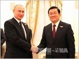 Chủ tịch nước Trương Tấn Sang hội đàm với Tổng thống Nga V.Pu-tin và gặp gỡ Tổng thống Ai Cập