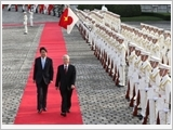Tổng Bí thư Nguyễn Phú Trọng hội đàm với Thủ tướng Nhật Bản S.A-bê