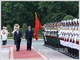 Lãnh đạo Đảng, Nhà nước đón, hội đàm với Thủ tướng Lào