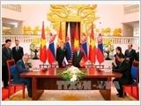 Các đồng chí lãnh đạo Đảng, Nhà nước đón tiếp, hội đàm với Thủ tướng Slovakia