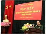 Bộ Quốc phòng gặp mặt Đoàn đại biểu Thương binh, bệnh binh tỉnh Nghệ An