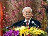 Tổng Bí thư Nguyễn Phú Trọng chúc Tết lãnh đạo, nguyên lãnh đạo Đảng, Nhà nước, đồng bào, chiến sĩ cả nước, kiều bào ta ở nước ngoài