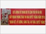 Kinh nghiệm gắn phong trào Thi đua Quyết thắng với phong trào Thi đua yêu nước ở địa phương của lực lượng vũ trang Thủ đô Hà Nội