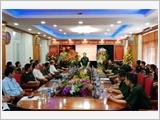 Thượng tướng Nguyễn Trọng Nghĩa thăm, chúc mừng Tạp chí Quốc phòng toàn dân