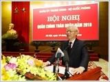 Phát biểu của Tổng Bí thư, Chủ tịch nước Nguyễn Phú Trọng, Bí thư Quân ủy Trung ương tại Hội nghị tổng kết công tác quân sự, quốc phòng năm 2018, triển khai nhiệm vụ năm 2019