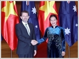Chủ tịch Quốc hội Nguyễn Thị Kim Ngân đón, hội đàm với Chủ tịch Thượng viện Australia Scott Ryan