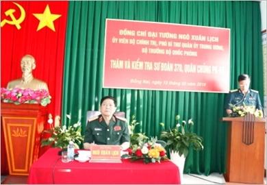 Đại tướng Ngô Xuân Lịch làm việc với một số đơn vị phía Nam