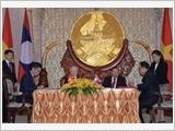 Tổng Bí thư, Chủ tịch nước Nguyễn Phú Trọng hội đàm với Tổng Bí thư, Chủ tịch nước Cộng hòa Dân chủ Nhân dân Lào Bun-nhăng Vo-la-chít