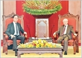 Tổng Bí thư, Chủ tịch nước tiếp; Thủ tướng đón, hội đàm; Chủ tịch Quốc hội hội kiến Thủ tướng Hà Lan M.Rút-tơ