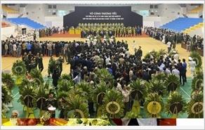 TƯỜNG THUẬT TRỰC TIẾP: Lễ viếng, truy điệu 22 cán bộ, chiến sĩ Đoàn KTQP 337 hy sinh khi làm nhiệm vụ giúp dân khắc phục hậu quả mưa lũ