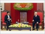 Tổng Bí thư, Chủ tịch nước Nguyễn Phú Trọng tiếp; Chủ tịch Quốc hội Nguyễn Thị Kim Ngân hội kiến Thủ tướng Lào