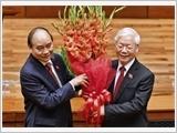Đồng chí Nguyễn Xuân Phúc được bầu giữ chức vụ Chủ tịch nước