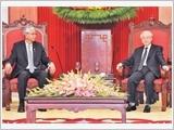 Tổng Bí thư Nguyễn Phú Trọng tiếp; Chủ tịch nước Trần Đại Quang đón, hội đàm; Thủ tướng Nguyễn Xuân Phúc hội kiến Tổng thống Mi-an-ma Tin Chô
