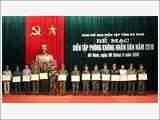 Tỉnh Hà Nam tăng cường công tác phòng không nhân dân