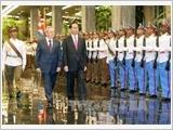 Chủ tịch Cuba Raul Castro đón và hội đàm với Chủ tịch nước Trần Đại Quang