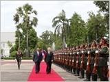 Tổng Bí thư Nguyễn Phú Trọng hội đàm với Tổng Bí thư, Chủ tịch nước; hội kiến Thủ tướng và Chủ tịch Quốc hội Lào