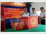 Tổ chức bầu cử sớm cho cán bộ, chiến sĩ trên các Nhà giàn DK1