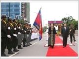 Chủ tịch Quốc hội Nguyễn Thị Kim Ngân hội kiến các nhà lãnh đạo Lào và Cam-pu-chia