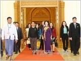 Chủ tịch Quốc hội Nguyễn Thị Kim Ngân hội kiến Chủ tịch Hạ viện Myanmar