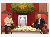 Tổng Bí thư Nguyễn Phú Trọng tiếp; Chủ tịch nước Trần Đại Quang đón, hội đàm; Thủ tướng Nguyễn Xuân Phúc hội kiến Tổng thống Phi-li-pin R.Đu-téc-tê