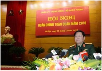Toàn quân nỗ lực thực hiện tốt nhiệm vụ quân sự, quốc phòng năm 2017