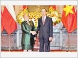 Tổng Bí thư tiếp; Chủ tịch nước đón, hội đàm; Thủ tướng Chính phủ, Chủ tịch Quốc hội hội kiến Tổng thống Chi-lê