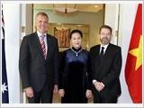 Chủ tịch Quốc hội Nguyễn Thị Kim Ngân hội đàm với Chủ tịch Hạ viện và Chủ tịch Thượng viện Ô-xtrây-li-a