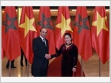 Chủ tịch nước Trần Đại Quang tiếp; Chủ tịch Quốc hội Nguyễn Thị Kim Ngân đón, hội đàm với Chủ tịch Hạ viện Ma-rốc E.Man-ki