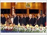 Tổng Bí thư đón, hội đàm; Thủ tướng và Chủ tịch Quốc hội hội kiến Tổng Bí thư, Chủ tịch nước Lào Bun-nhăng Vo-la-chít