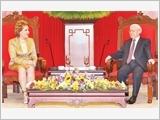 Tổng Bí thư Nguyễn Phú Trọng tiếp Chủ tịch Hội đồng Liên bang Nga V.I.Mát-vi-en-cô