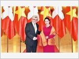 Chủ tịch nước tiếp; Chủ tịch Quốc hội đón, hội đàm với Chủ tịch Hội đồng Nhà nước Liên bang Thụy Sĩ