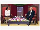 Tổng Bí thư, Chủ tịch nước tiếp; Thủ tướng Chính phủ hội kiến với Chủ tịch Quốc hội Lào P.Y-a-tho-tu