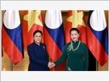 Chủ tịch Quốc hội đón, hội đàm với Chủ tịch Quốc hội Lào P.Y-a-tho-tu