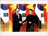 Tổng Bí thư, Chủ tịch nước tiếp; Chủ tịch Quốc hội đón, hội đàm với Chủ tịch Quốc hội Hàn Quốc