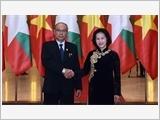 Tổng Bí thư, Thủ tướng Chính phủ tiếp; Chủ tịch Quốc hội đón, hội đàm với Chủ tịch Quốc hội Mi-an-ma