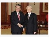 Tổng Bí thư Nguyễn Phú Trọng, Chủ tịch nước Trần Ðại Quang tiếp Chủ tịch Hạ viện Nhật Bản Ô-si-ma Ta-đa-mô-ri
