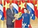 Chủ tịch nước Trần Ðại Quang, Thủ tướng Nguyễn Xuân Phúc tiếp; Chủ tịch Quốc hội Nguyễn Thị Kim Ngân đón, hội đàm với Chủ tịch Quốc hội Cu-ba E.La-xô