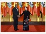 Chủ tịch Quốc hội Nguyễn Thị Kim Ngân đón, hội đàm với Chủ tịch Thượng viện Cộng hòa Ha-i-ti Y.La-toóc-tuy