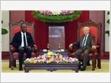 Tổng Bí thư, Chủ tịch nước, Thủ tướng tiếp Chủ tịch Thượng viện Ha-i-ti