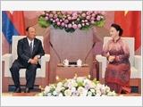 Chủ tịch Quốc hội Nguyễn Thị Kim Ngân đón, hội đàm với Chủ tịch Quốc hội Vương quốc Cam-pu-chia