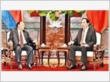 Chủ tịch nước Trần Ðại Quang, Thủ tướng Nguyễn Xuân Phúc tiếp Chủ tịch Quốc hội Cam-pu-chia Hêng Xom-rin