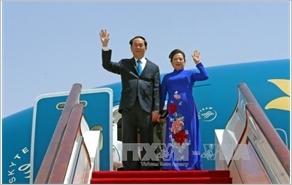 Chủ tịch nước Trần Đại Quang lên đường thăm chính thức Cộng hòa Belarus